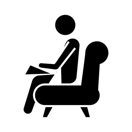 psycholoog - consultant pictogram, illustratie, vector teken op geïsoleerde achtergrond Stock Illustratie