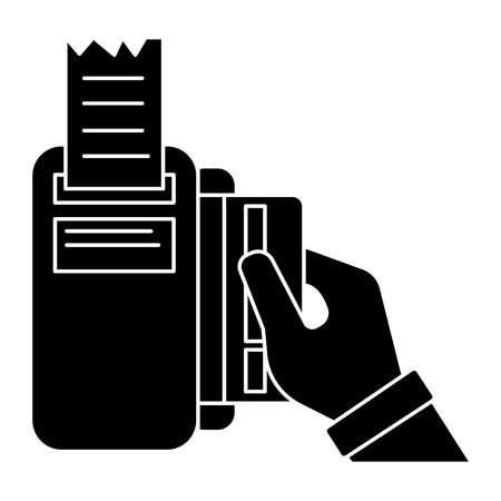 Payment by card icon Ilustração
