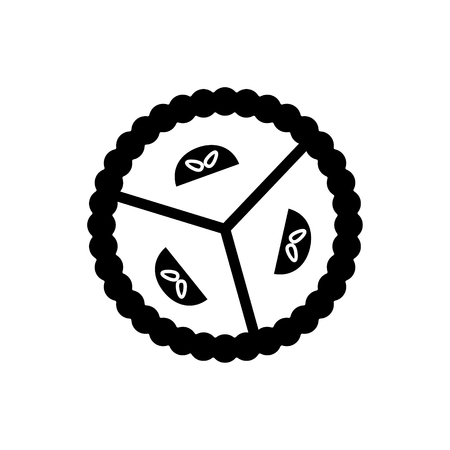 Pie sweet dessert icon
