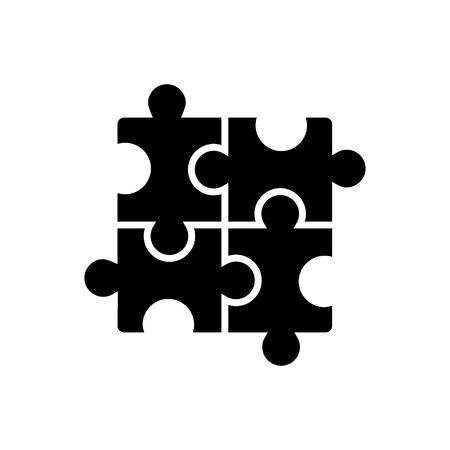 퍼즐 - 퍼즐 아이콘, 그림, 벡터 격리 된 배경에 서명