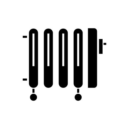 radiator - olie kachel pictogram, illustratie, vector teken op geïsoleerde achtergrond