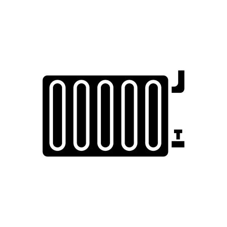 radiator stalen paneel pictogram, illustratie, vector teken op geïsoleerde achtergrond