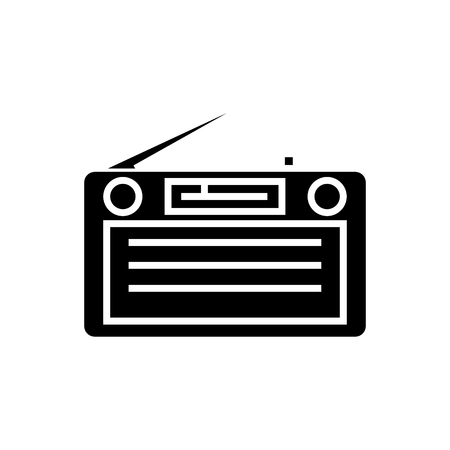 radio - radioreceiver icon, illustration, vector sign on isolated background Illusztráció