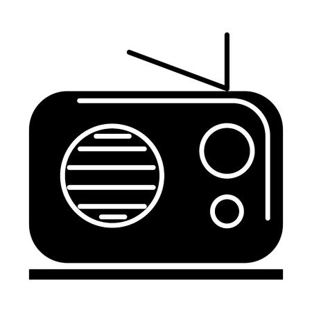 Icono de receptor de radio, ilustración, vector, signo, fondo aislado Foto de archivo - 88099498