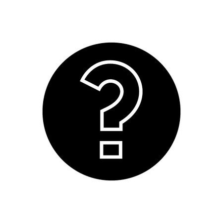 question icon, illustration, vector sign on isolated background
