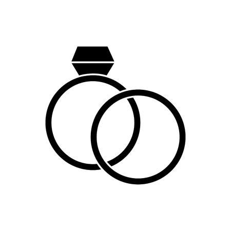 ringen bruiloft diamant pictogram, illustratie, vector teken op geïsoleerde achtergrond