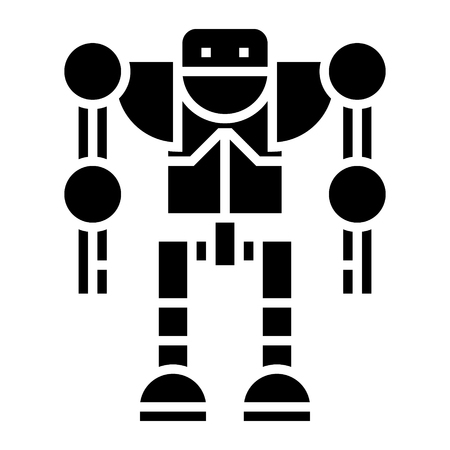 robot - droid icon, illustration, vector sign on isolated background Illustration