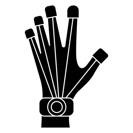 robot hand icon, illustration, vector sign on isolated background Illustration