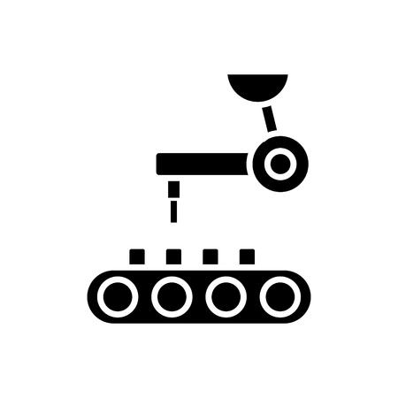 icona di tecnologia robotica, illustrazione, segno di vettore su fondo isolato