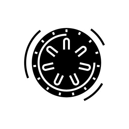 安全な銀行アイコン、イラスト、ベクトル分離背景に記号
