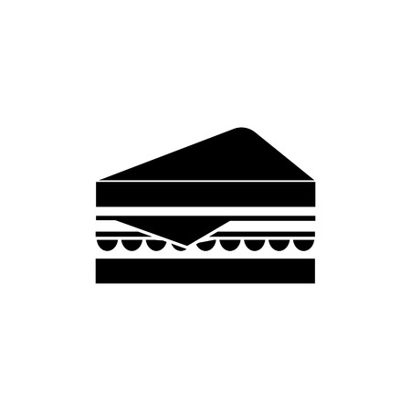 sandwich icon, illustration, vector sign on isolated background Vettoriali