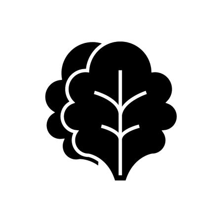 サラダアイコン, イラスト, 孤立した背景にベクトル記号