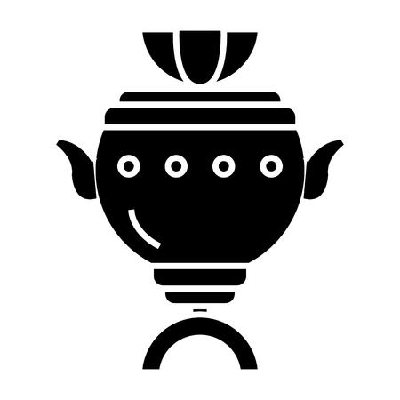 Samovar icon. Ilustrace