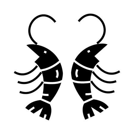 Shrimp icon. Illustration