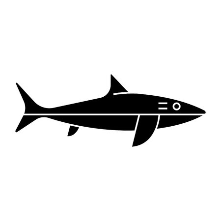 Shark icon, illustration, vector sign.