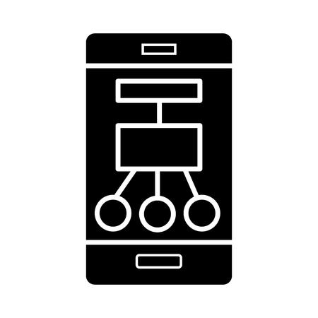 Phone scheme structure icon Фото со стока - 88102585