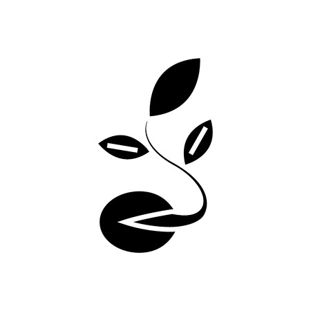 Seeds grow plant icon Illustration