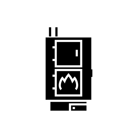 Icône de poêle à granulés Banque d'images - 88102638