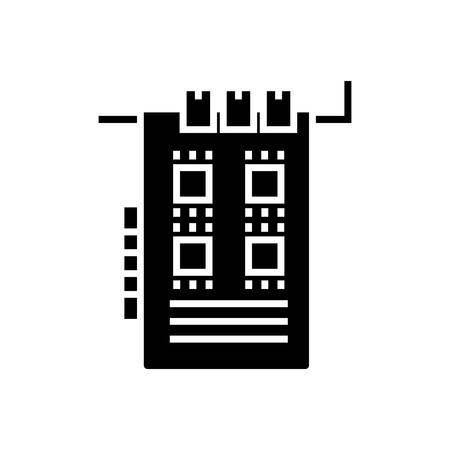 Sound card icon Illustration