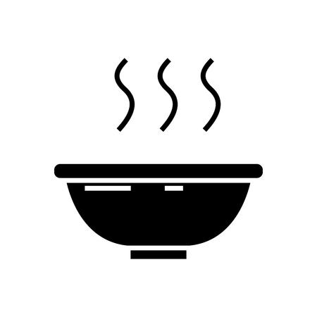 Soepkom pictogram Stock Illustratie