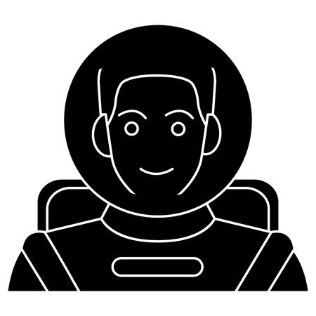 Astronaut in helmet icon