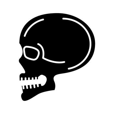 Icona Skull Archivio Fotografico - 88102666