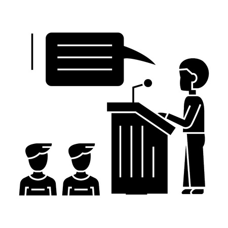 Speaker presentation icon