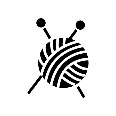 Knitting needles icon