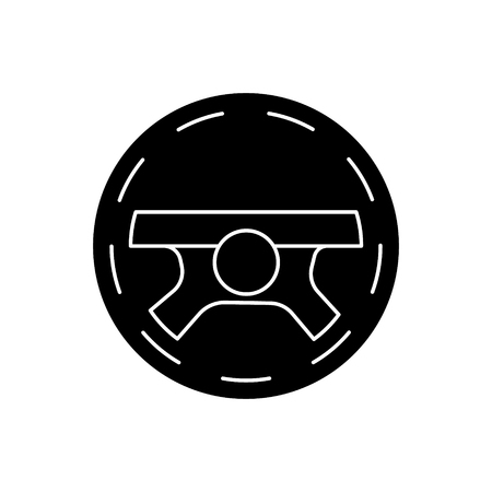 Steering wheel driving icon Illustration
