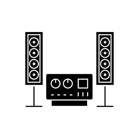 ステレオ サウンド システム アイコン  イラスト・ベクター素材