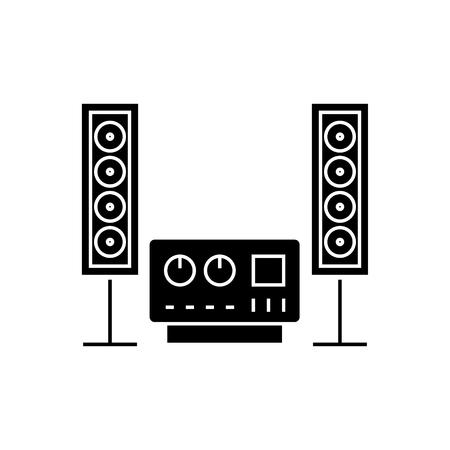 Stereo sound system icon Фото со стока - 88102752