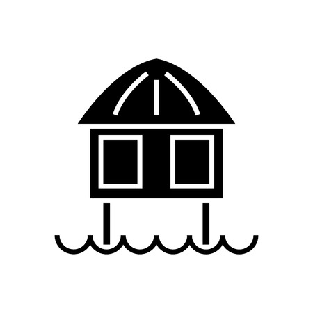 Stilt house icon