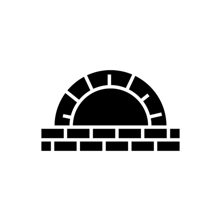 Stone oven icon Illustration