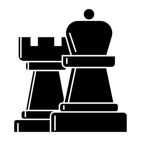 Schaken pictogram Stock Illustratie