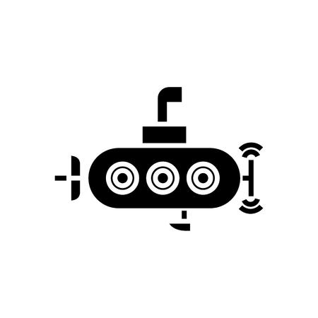 Onderzeeër pictogram Stock Illustratie
