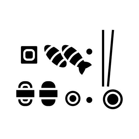 Sushi mix icon Illustration