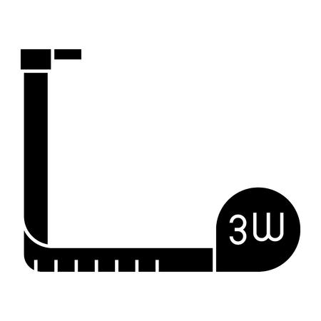 Tape-measure icon Illustration