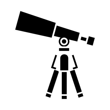 Telescoop pictogram Stock Illustratie