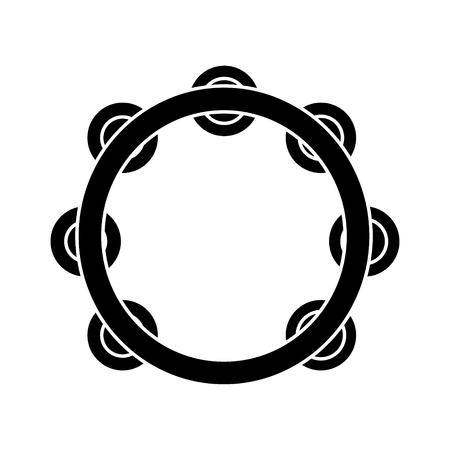 Tamboerijn pictogram Stock Illustratie