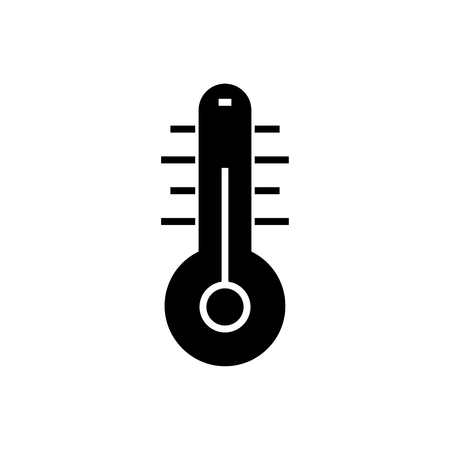 thermometer 2 icon, illustration, vector sign on isolated background