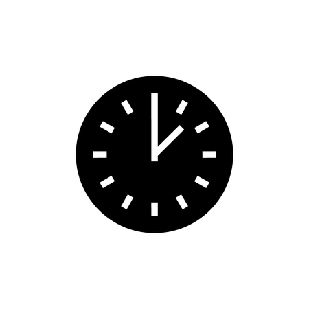 time simple icon, illustration, vector sign on isolated background 向量圖像