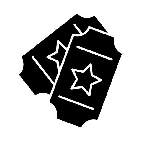 Tickets zeigen Symbol, Illustration, Vektor-Zeichen auf weißem Hintergrund Standard-Bild - 88106109