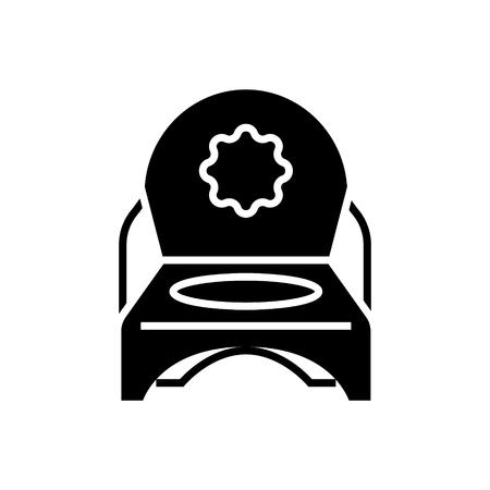 toilet potje pictogram, illustratie, vector teken op geïsoleerde achtergrond Stock Illustratie