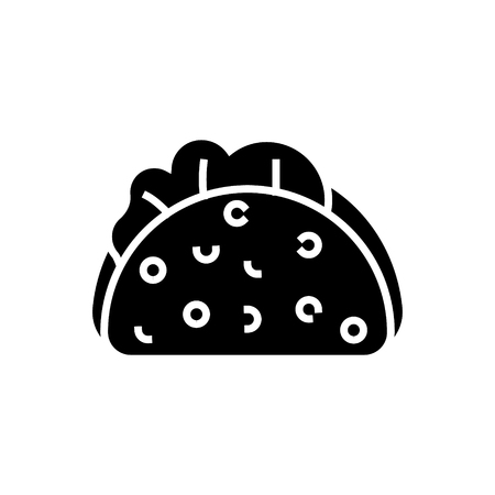 taco icon, illustration, vector sign on isolated background