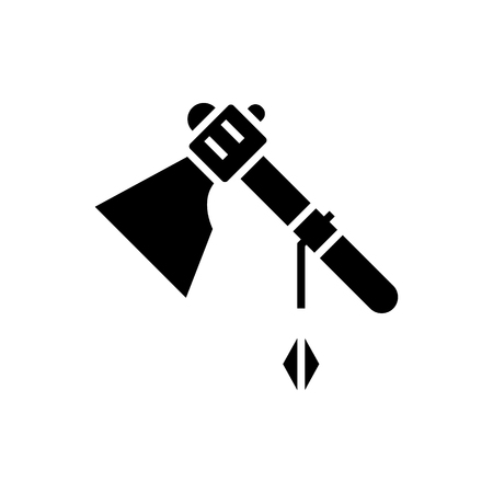 tomahawk icon, illustration, vector sign on isolated background