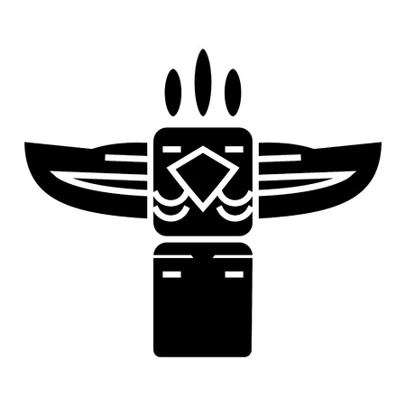 totem - native american icon, illustration, vector sign on isolated background