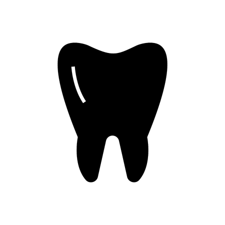 tooth classic icon, illustration, vector sign on isolated background