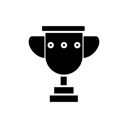trophy cup simple icon, illustration, vector sign on isolated background 일러스트