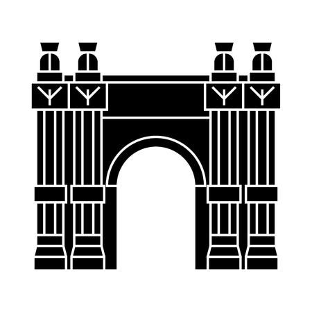 triumphal arch icon, illustration, vector sign on isolated background