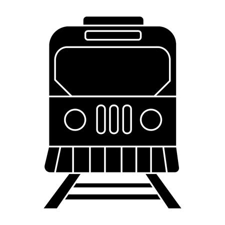 列車の都市アイコン、イラスト、ベクトル分離背景に記号